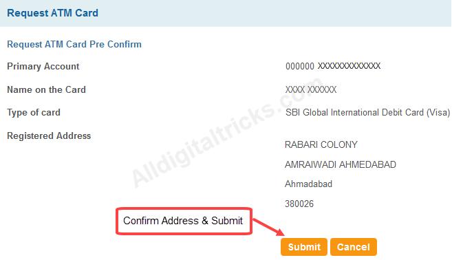 apply online sbi atm debit card