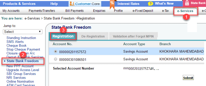 onlinesbi activate sbi freedom