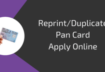 reprint pan card online