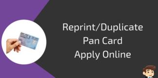 reprint pan card online