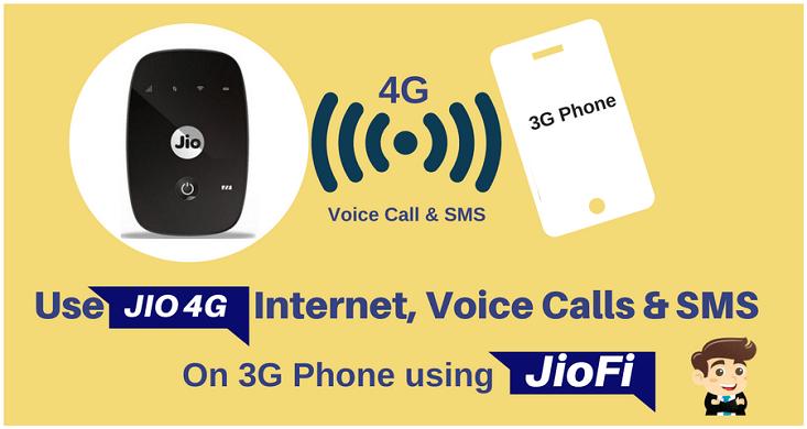Use Jio 4G SIM on Your 3G Android Phone Using JioFi
