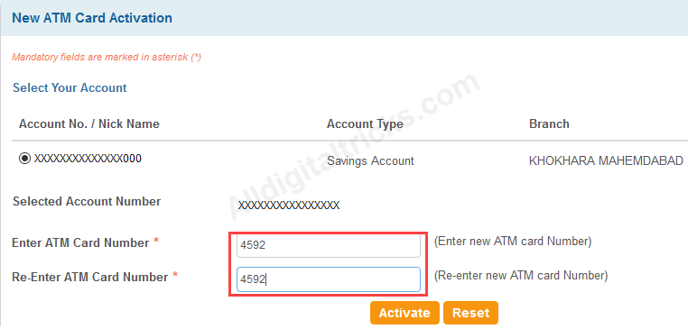 activate sbi atm debit card online