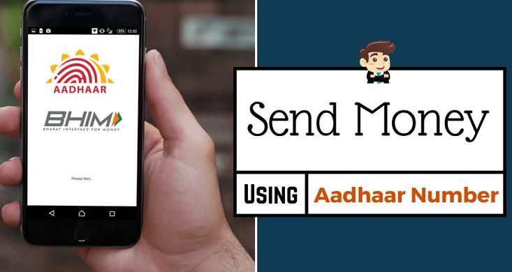 BHIM send Money aadhaar card