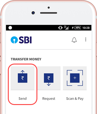 BHIM send money using aadhaar number