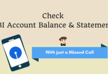 check sbi balance statement