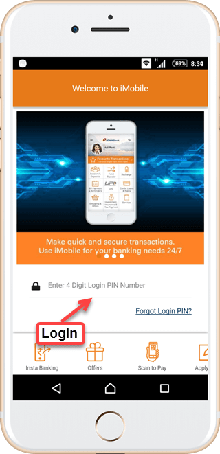 ICICI iMobile activation process