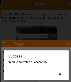 ICICI iMobile banking activation