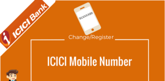 icici bank change register mobile