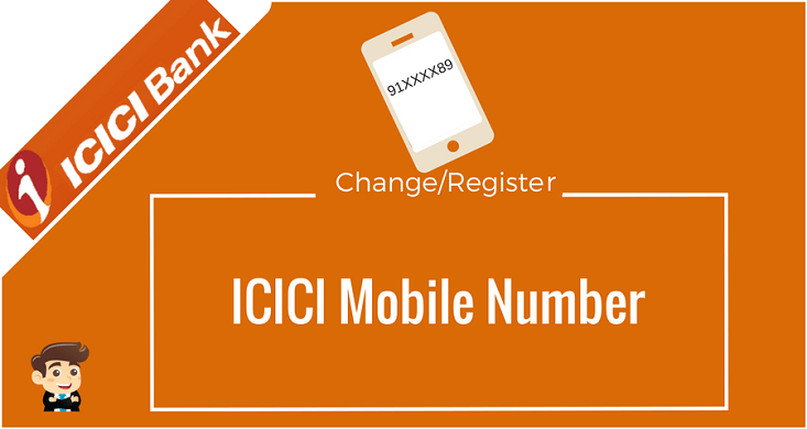 how to change mobile no in icici bank atm