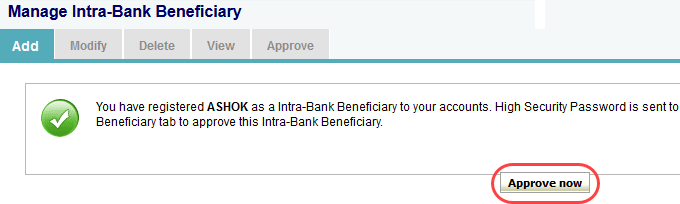 SBI add beneficiary online