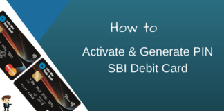 sbi debit card pin activation