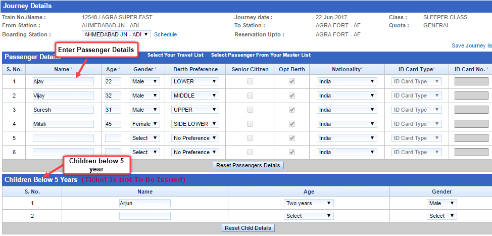 book train ticket irctc