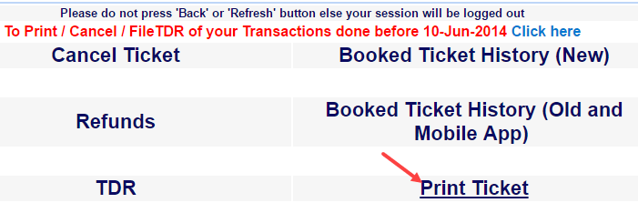 irctc book train ticket online
