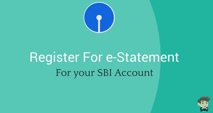 SBI e statement registration