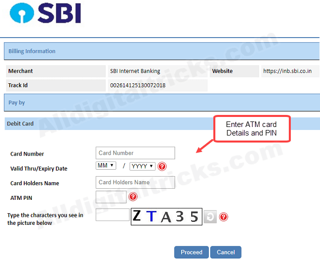 SBI net banking online register