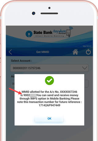 generate check mmid on sbi anywhere