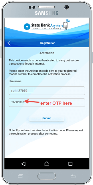 SBI anywhere first time login