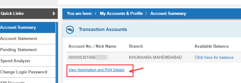 SBI net banking CIF number