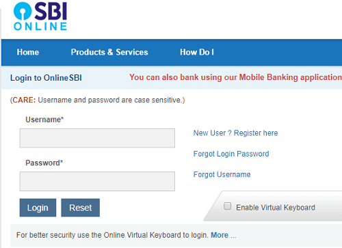 sbi net banking first time login procedure