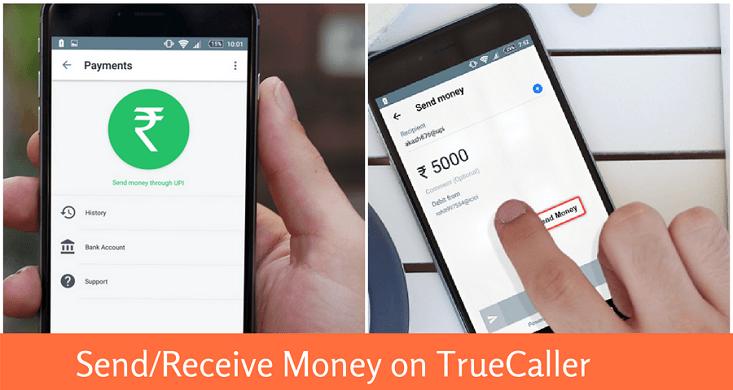 truecaller send money upi