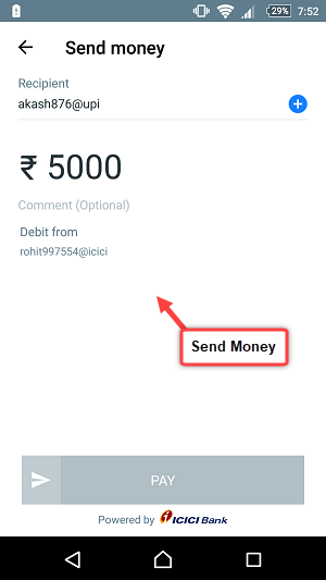 truecaller send receive money UPI