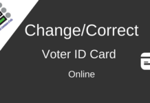 voter id card correction online