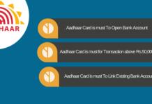 aadhaar card mandatory bank account