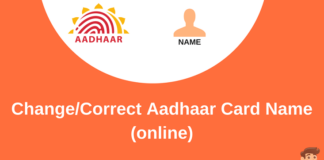 aadhaar card name update online