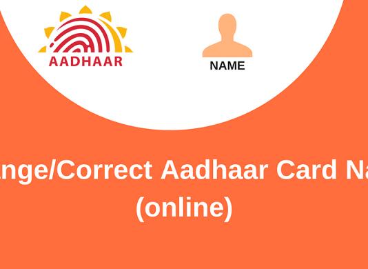 aadhaar card name update online