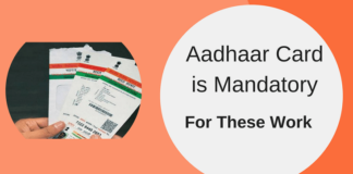 aadhaar card is mandatory for these work