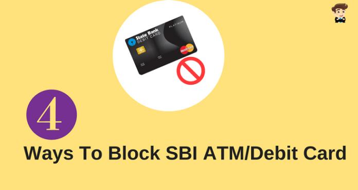 block sbi atm debit card