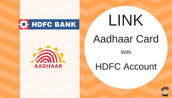 hdfc credit card link aadhar
