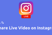 Instagram live video feature
