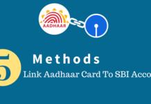 link aadhaar card to sbi account