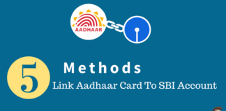 link aadhaar card to sbi account