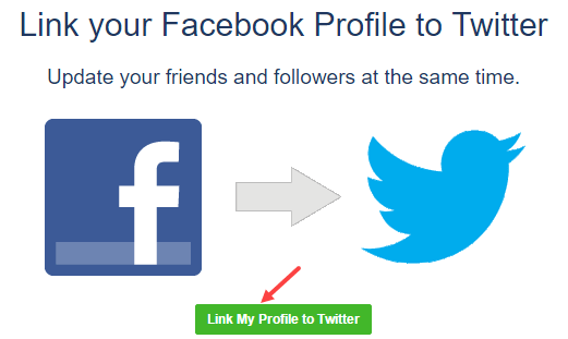 link facebook with twitter