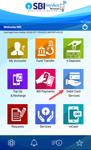 manage debit card sbi anywhere