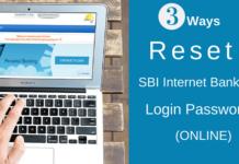 reset sbi netbanking login password