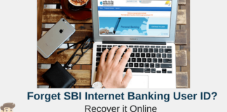 sbi netbanking forget user id
