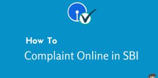 sbi online complaint