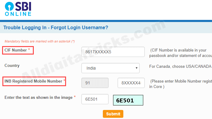 how can i get sbi net banking user id and password