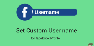 set username facebook
