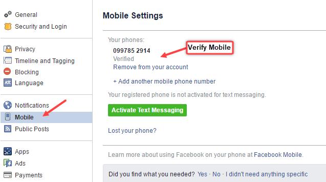 set username facebook