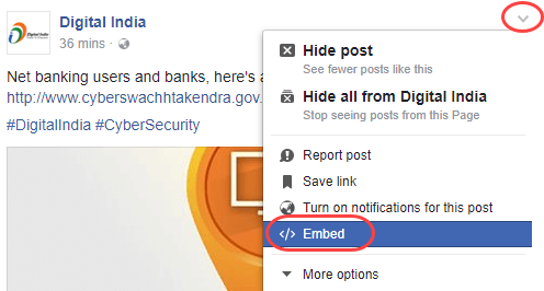 facebook embed post