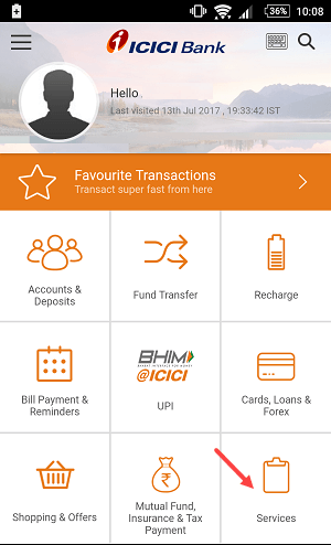 icici debit card international usage