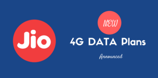 jio latest 4g Data plans
