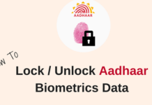 Lock Unlock Aadhaar biometric data