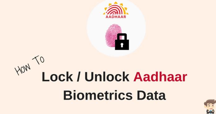 Lock Unlock Aadhaar biometric data