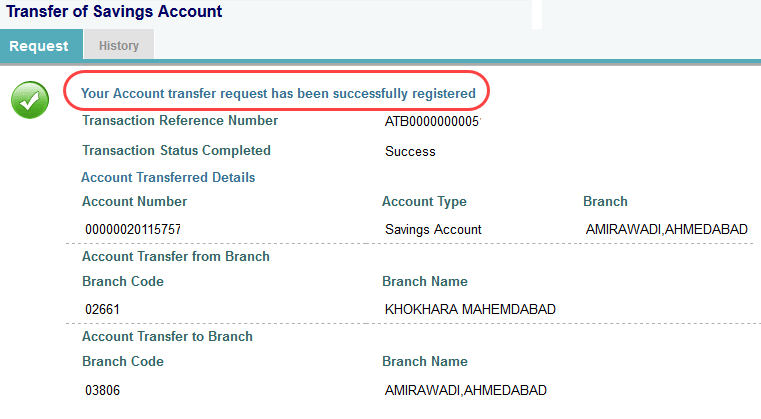 SBI account transfer online