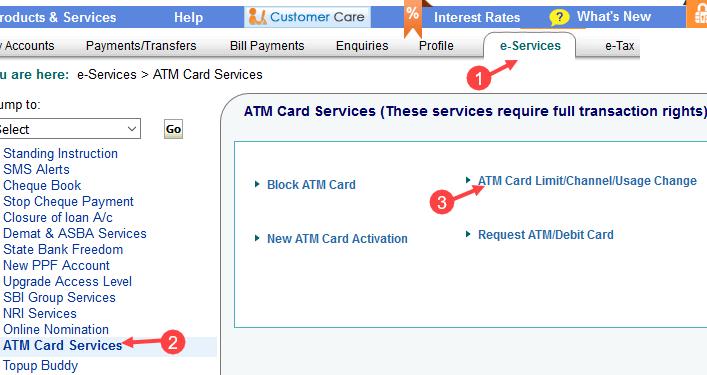 sbi debit card international usage